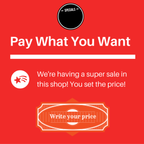 Pay what you want pricing scheme
